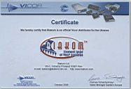 Сертификат Vicor